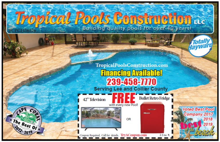 Shopper Coupon Book. Best coupons near me. Pool Company Cape Coral, FT Myers, Lehigh Acres Coupons